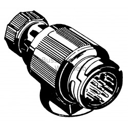 Stecker 13-polig Bajonet Anschluß drehbar