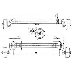 900 kg gebremste PKW Anhänger Gummifederachse (Schlegl Radbremse Type 200x50)
