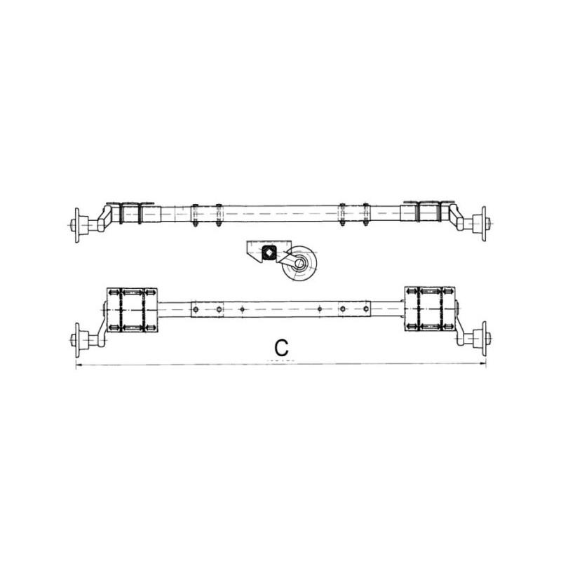 750 kg flexi achse ungebremst universel verstellbar f r. Black Bedroom Furniture Sets. Home Design Ideas