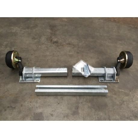 1400 kg Flexi-Achse Anhänger gebremst Uni verstellbar AM: 700-1300 AS: 112*5