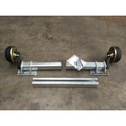 1400 kg Flexi-Achse Anhänger gebremst Uni verstellbar AM: 1300-2000 AS: 112*5