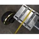 1400 kg gebremste PKW Anhänger Gummifeder VK80 Achse (Schlegl Radbremse Typ 200x50)