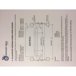 1500 kg gebremste PKW Anhänger Gummifeder VK80 Achse (Schlegl Radbremse Typ 200x50)