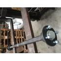 Starre Achse LNB VK40 ungebremst bis 1400 kg / 100*4 / 1200mm