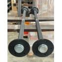 Starre Gummifederachse ungebremst bis 1400 kg / 112*5