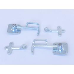 Bügelhebelverschluss Type 0 SATZ  R+L +2* Öse zum anschrauben