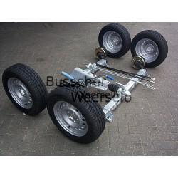 TANDEM Komplett Anhänger Achsen Fahrgestell Satz (+Räder) V-2700 kg gebremst AS: 112*5