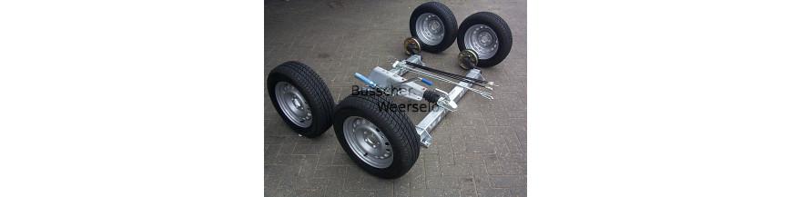 Achsen, Bremsen und Räder